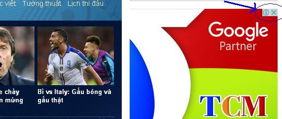 Banner TCM trên Zing.vn